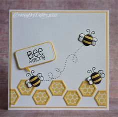Image result for ideas for a get well card Hexagon Cards, Hexagon Quilt, Honey Bee Stamps, Bee Cards, Bee Theme, Marianne Design, Get Well Cards, Animal Cards, Sympathy Cards