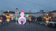 Decoración navideña de la Plaza Mayor de Elvas