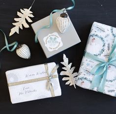 Add a personalized touch to your holiday gifts with Minted's custom Holiday wrapping paper.  Image courtesy of @ruemagazine