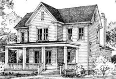 THIS house ---- Covington Hill - Looney Ricks Kiss Architects, Inc. Best House Plans, Dream House Plans, Small House Plans, Farmhouse Floor Plans, Farmhouse Style, American Farmhouse, Farmhouse Design, Southern Living House Plans, Old Farm Houses