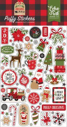 Christmas Stickers Printable, Printable Planner Stickers, Journal Stickers, Scrapbook Stickers, Christmas Printables, Scrapbook Paper, Echo Park, Christmas Art, Christmas Projects