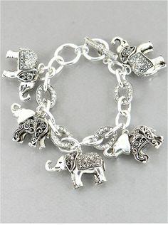 P.S. I Love You More Boutique   Elephant Charm Bracelet