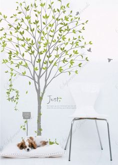 Sweet Garden Vinyl Art Wall Decals - Big Wall Murals Stickers Removable Vinyl Art Wall Decor. $54.00, via Etsy.