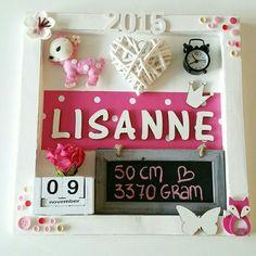 Geboortebord Lisanne ● Troetel.com