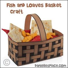 Jesus Feeds the 5000 Basket Bible Craft for Children's Ministry and Sunday School