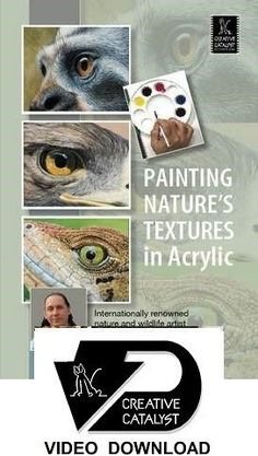VIDEO DOWNLOAD:  Painting Nature's Textures in Acrylic with David N. Kitler