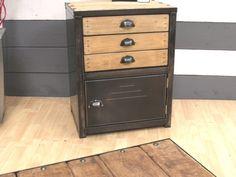 Meuble style industriel on pinterest style industriel - Fabriquer meuble industriel ...