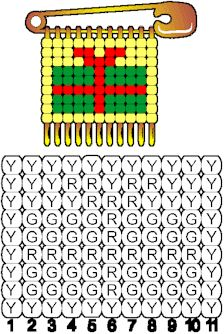 Christmas Safety Pin Patterns | Christmas Gift Patern for Beaded Safety Pins