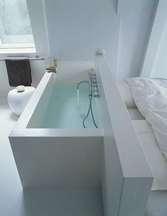 Browse Remodelista posts on Bathrooms to get ideas for your home remodeling or interiors project. The posts below highlight a range of solutions using Bathrooms across a variety of budget levels. Attic Bathroom, Bathroom Spa, Modern Bathroom, Bad Inspiration, Bathroom Inspiration, Home Design, Interior Design, Attic Spaces, Wet Rooms