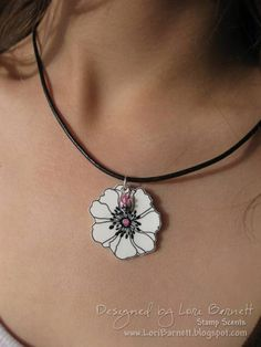 Floral Duet Necklace by versamom - Cards and Paper Crafts at Splitcoaststampers