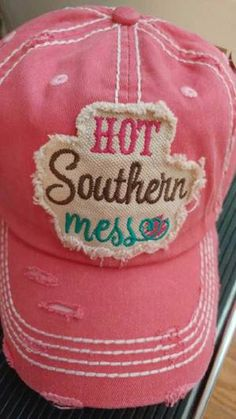 ab18b673f58 Hot Southern Mess Distressed Trucker Hat
