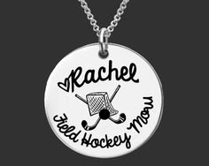 Field Hockey Mom Personalized Necklace