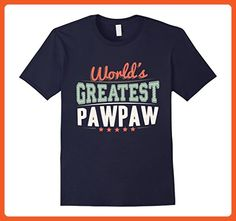 Mens World's Greatest Paw Paw T-shirt. Grandpa Paw Paw Gifts Large Navy - Relatives and family shirts (*Partner-Link)