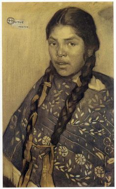 Indian with quechquémitl - Herran Saturnino