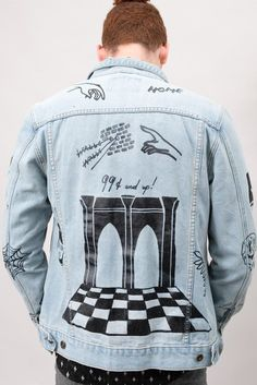 0c44cc3a DIY Scribble Denim Jacket Denim Jacket Patches, Denim Jacket Men, Scribble,  Graphic Sweatshirt