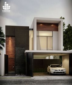 arquitectura moderna e design Villa Design, Modern House Design, Residential Architecture, Contemporary Architecture, Interior Architecture, Design Exterior, House Elevation, Facade House, Minimalist Home