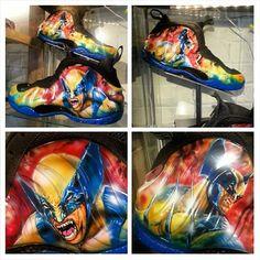 """Nike Foamposite """"Wolverine"""" Customs by Dez Customz"""