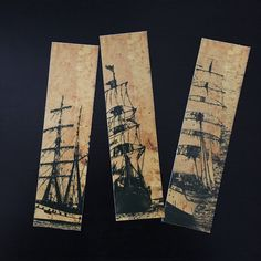 A personal favorite from my Etsy shop https://www.etsy.com/listing/568472443/pirate-ships-bookmark