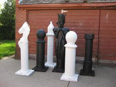 painted paper mache chess pieces photo paintedgroup.jpg