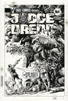 Brian Bolland - Eagle Comics:  Judge Dredd #4 Cover Comic Art