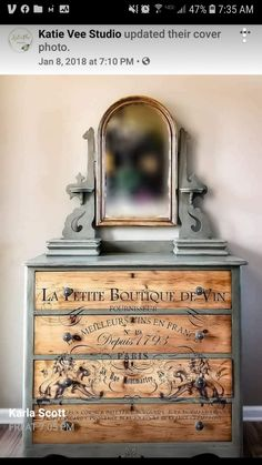 Trance, Dresser With Mirror, Paris, Dressers, Studio, Stamp, Antiques, Projects, Furniture