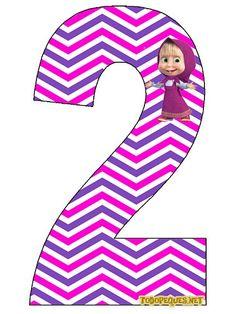 Numero-2-Masha-y-El-Oso-Masha-Numbers.jpg (431×575)