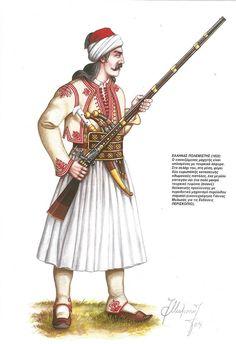 Greek rebel warrior (1822)