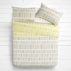 BuyHouse by John Lewis Lines Duvet Cover and Pillowcase Set, Single…