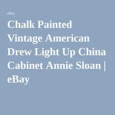 Chalk Painted Vintage American Drew Light Up China Cabinet Annie Sloan | eBay