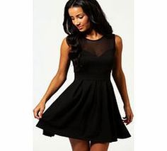 boohoo Cheryl Skater Dress - black azz62929 The classic skater dress gets a sexy upgrade with a chic mesh neckline. It nips in your curves at the waist, and is a mini length with box pleat skirt. This flattering dress has a sweetheart neckline, http://www.comparestoreprices.co.uk/dresses/boohoo-cheryl-skater-dress--black-azz62929.asp