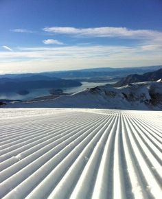 Lovely groomed #snow like a ploughed field! #Beautiful #scenery.