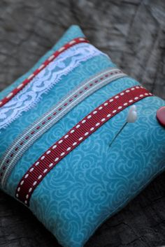 Your place to buy and sell all things handmade Spoil Yourself, Red Button, Red Ribbon, Surprise Gifts, Pin Cushions, Weaving, Buttons, Throw Pillows, Turquoise