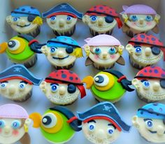 Pirates cupcakes - way beyond me, but cute as can be...