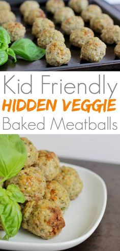 These kid friendly hidden vegetable meatballs are a winner with adults and kids alike. Your kids will love to eat these flavorful meatballs, and you will love that they are chock-full of hidden vegetables that give your kids the veggies that they need! Healthy Meals For Kids, Quick Easy Meals, Kids Meals, Healthy Snacks, Healthy Recipes, Kids Dinner Ideas Healthy, Healthy Children, Simple Meals, Detox Recipes
