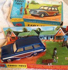 rare 1960s corgi ford consul cortina estate golf set boxed 440