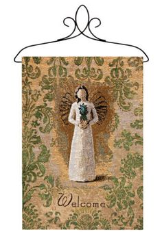 Willow Tree ~ Pineapple Welcome Angel Tapestry Bannerette Wall Hanging