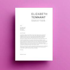 Lebenslauf Vorlage Anschreiben von SkylarkingDesigns auf Etsy