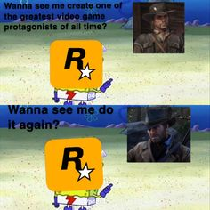 Say what you want about R* they know how to write a strong lead. Cartoon Character Tattoos, Red Dead Redemption 1, Red Dead Online, Read Dead, Rdr 2, Funny Memes, Hilarious, Dead Memes, Video Games Funny
