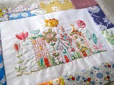 Blüte stitching sampler