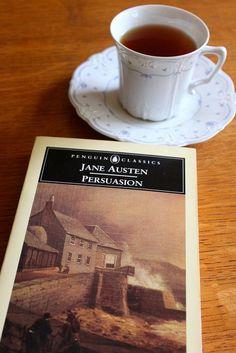 Coisas de Terê→ A Cup of Tea and a Good Jane Austen Novel. #reading #books