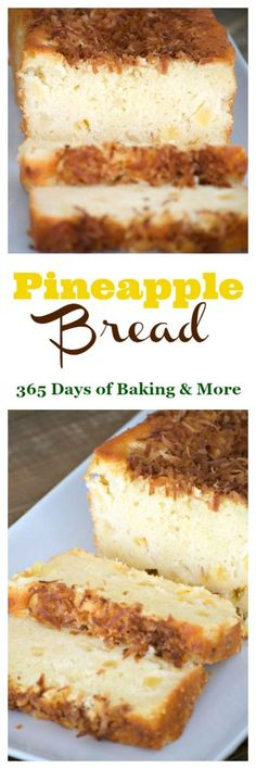 This Pineapple Bread is a great treat in the morning with your cup of coffee and the toasted coconut on the top helps you feel like you're in the tropics! (Baking Eggs In Toast) Pineapple Bread, Pineapple Recipes, Just Desserts, Delicious Desserts, Dessert Recipes, Diabetic Desserts, Sweet Desserts, Brunch Recipes, Breakfast Recipes