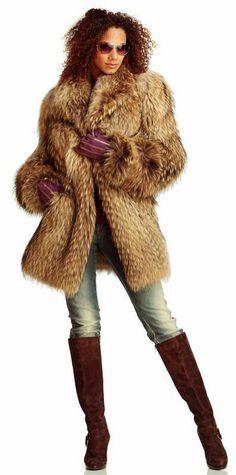Tanuki fur coat