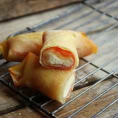 Salami and Cheese Baked Egg Rolls 2 by firefly64, via Flickr
