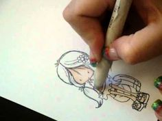 Coloring skin with Prisma Color Pencils by Roquenoodle