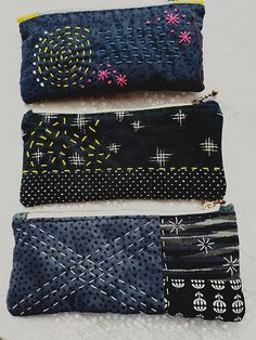 Sashiko Fabric - 8 Color Fat Quarter Sampler Pack - The Basics - Cotton-Linen fabric for Japanese Embroidery, Quilting, Sewing - Embroidery Design Guide Sashiko Embroidery, Japanese Embroidery, Hand Embroidery Patterns, Embroidery Kits, Embroidery Stitches, Embroidery Designs, Embroidery Supplies, Embroidery Books, Machine Embroidery