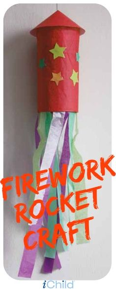 Firework Rocket Craft This activity is a fun and easy to create a sparkling firework decoration. Print the instructions and celebrate Bonfire Night with your child! Happy Birthday Fireworks, Happy New Year Fireworks, 4th Of July Fireworks, Bonfire Night Activities, Bonfire Night Crafts, Bonfire Night Party Decorations, Bonfire Crafts For Kids, Autumn Activities For Kids, Children Activities
