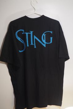Vintage Rare Sting Crew T Shirt nothing on the front large sting on the back Marketing And Advertising, Vintage Men, Etsy Shop, Group, Trump Funny, Board, Mens Tops, T Shirt, Funny Humor