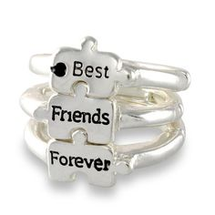 BFF Rings Brand new without tags Price is for all three. These are adjustable *Plastic* Jewelry Rings Source by friend rings Best Friend Rings, 3 Best Friends, Best Friend Outfits, Best Friends Forever, Gifts For Friends, Bff Necklaces, Best Friend Necklaces, Best Friend Jewelry, Bff Rings