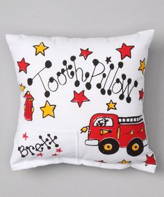 Look at this Fire Truck Personalized Tooth Pillow on #zulily today!