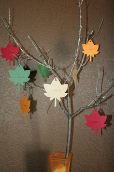 thanksgiving craft: the thankful tree